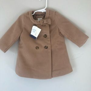NWT Baby Gap Fully Lined Pea coat Size 6-12 Month